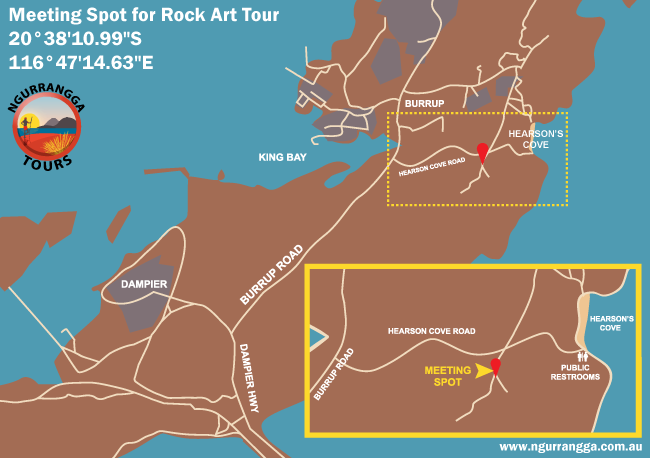 Map of Rock Art Tour meeting place